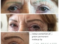 Colour Correction of green eyebrows